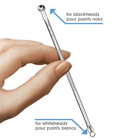 take point on product dual ended blackhead remover