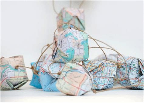 Origami Globe - fold maps into origami globes other sheets of paper