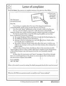 4th grade reading writing worksheets reading