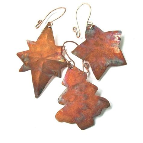 copper christmas tree ornaments handmade sler 3 rustic