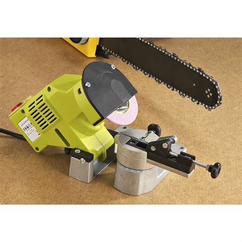chainsaw bench sharpener bench mount 110v chainsaw sharpener 157279 logging tools racks at sportsman s guide