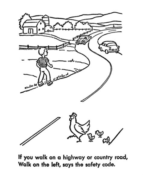 Coloring Page Road by Road Coloring Page Coloring Home
