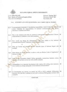 Kenyatta Mba Past Papers by Mba Cost And Management Accounting Past Paper Aiou Pk