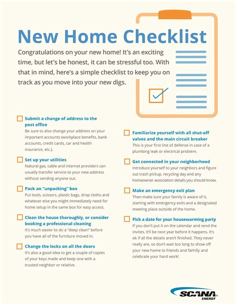 new home design center checklist free microsoft word