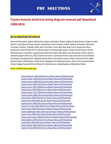 car repair manual download 2004 toyota mr2 electronic throttle control toyota avensis wiring diagram