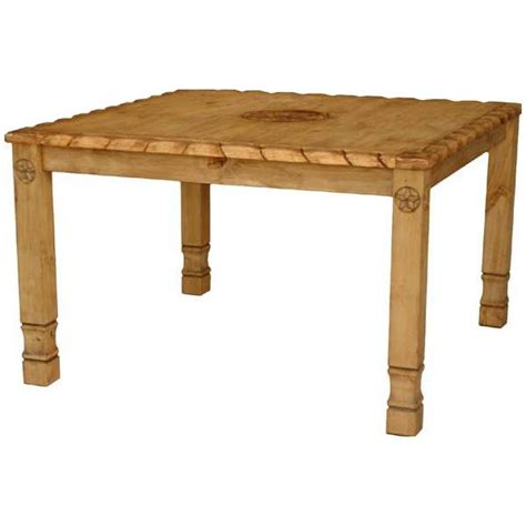 rustic pine collection texana 9 dining table mes54r31