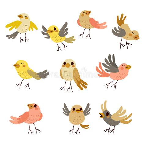 Lcute Set 3in1 Pigeons birds collection stock vector illustration of expression 57446847