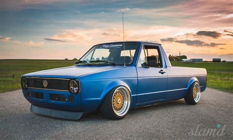 volkswagen rabbit stance built to drive the dub dynasty 1981 vw caddy vag