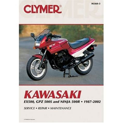 Clymer Workshop Manual Kawasaki Ex500 Gpz 500s Ninja 500r