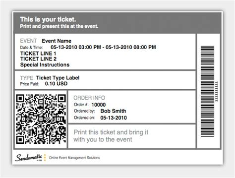 e ticket templates free how to sell event tickets