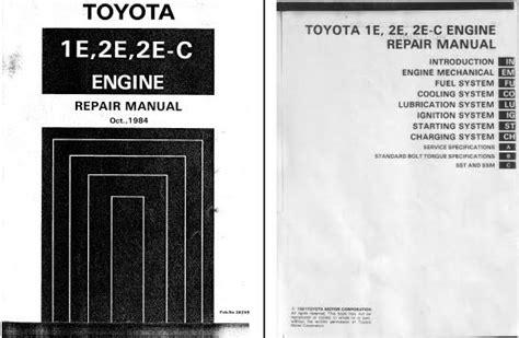 Packing Silinder Starlet 1e 2e otomotif fans toyota starlet engine repair manual 1e 2e 2e c