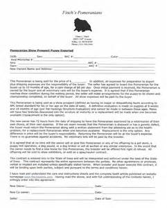 Sle Sales Contract Template by Free Printable Puppy Contract Nanopics Pictures