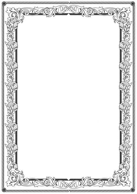 Czarno-białe Obramowanie Ramki Dyplomu | Premium Wektor