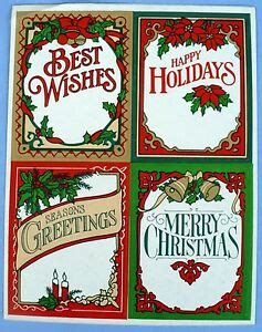 vintage hallmark merry christmas   stickers  sheet ebay
