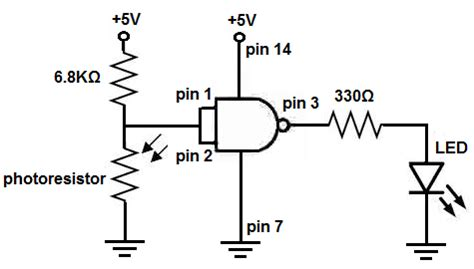 laser light detector circuit how to build a light detector circuit with a nand gate chip