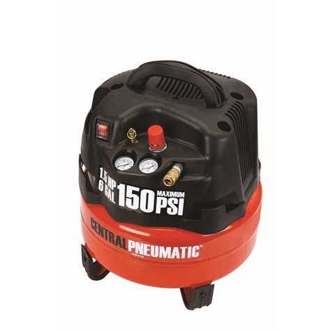 professional 150 psi 1 5 horsepower 6 gallon compressor