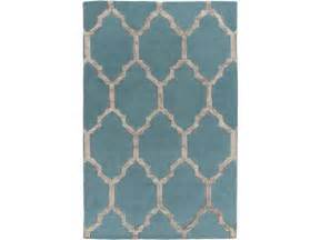 Brown And Teal Area Rugs 2 X 3 Moroccan Corridors Teal Blue And Beaver Brown Wool Area Throw Rug Newegg