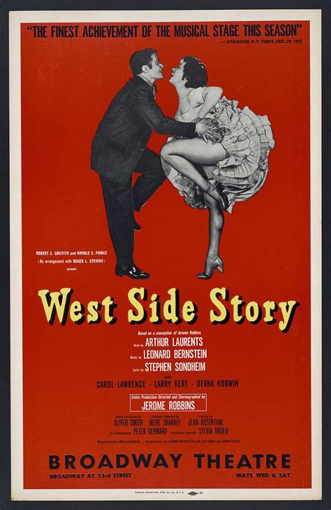 Story Original - birth of a musical west side story birth of a classic