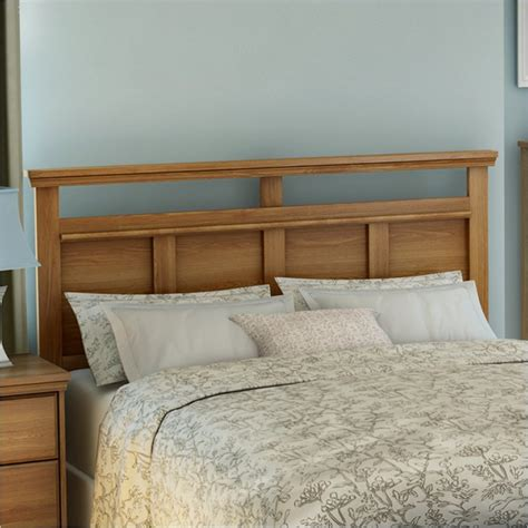 oak headboards queen south shore versa full queen panel golden oak finish