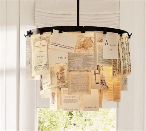 How To Make A Paper Chandelier For - 7 diy chandeliers using vintage things