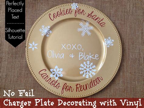 How To Decorate A Charger Plate by December 2014 Silhouette School