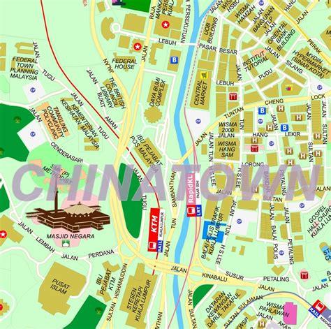 kuala lumpur map tourist attractions kuala lumpur malaysia travel guide on kuala lumpur new zone