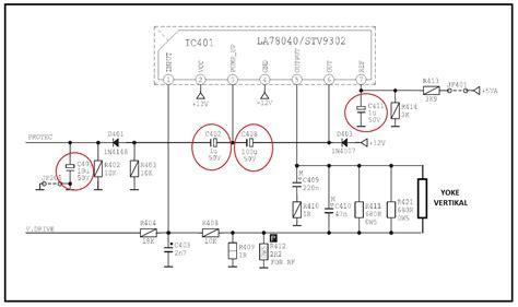 Ic Vertikal Tv Polytron cara kerja bagian blok vertikal tv tabung atau crt maupun