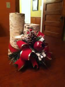 Cheap And Easy Christmas Centerpieces - christmas centerpiece making with birch logs and votive candles youtube