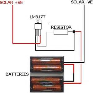 solar battery charger with lm317