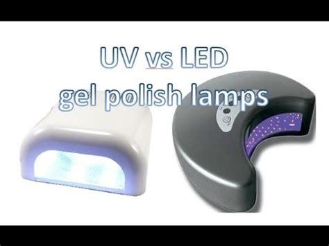 uv vs led ls for gel shellac nail