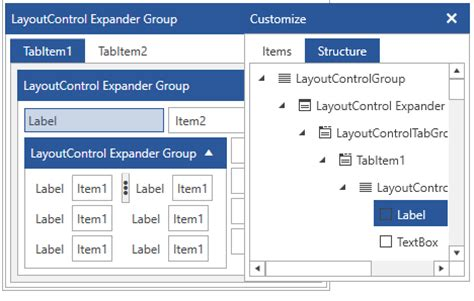 xaml default layout layoutcontrol component ui for wpf telerik