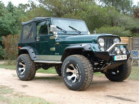 green jeep cj jeep cj7 lifted green image 48