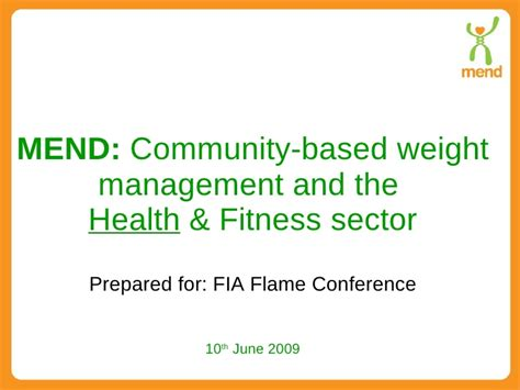 Depaul Health Sector Management Mba by Mend Community Based Weight Management The Health