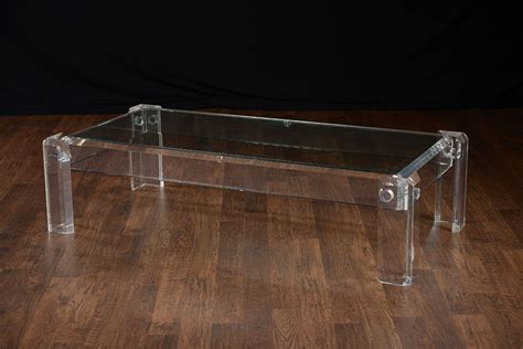 vintage low rectangular acrylic coffee table mecox gardens