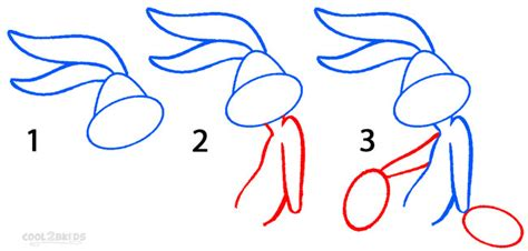 how to draw bugs bunny step by step easy how to draw bugs bunny step by step pictures cool2bkids