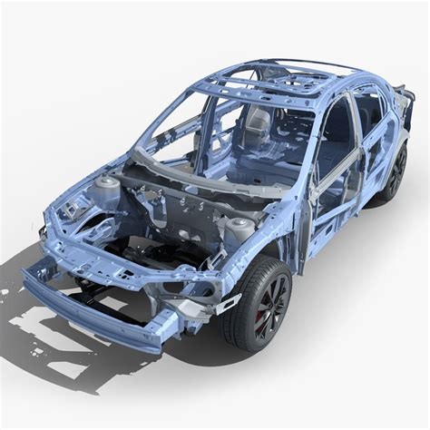auto gestell car frame 03 3d model max cgtrader