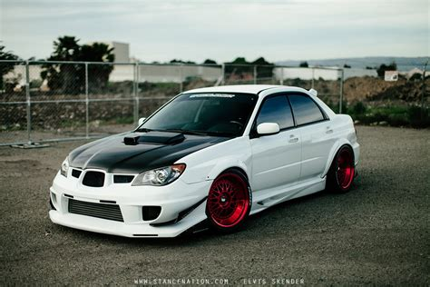 subaru impreza modified wallpaper 2006 subaru wrx sti cars white modified wallpaper