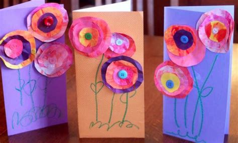 mothers day cards for children to make preschool crafts for s day paper flowers