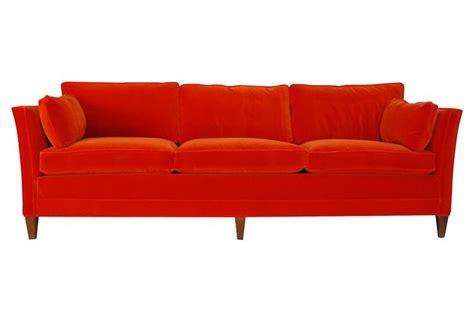 orange velvet couch orange velvet down sofa
