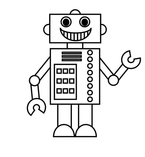 preschool robot coloring pages robot coloring pages to print posts related to smile