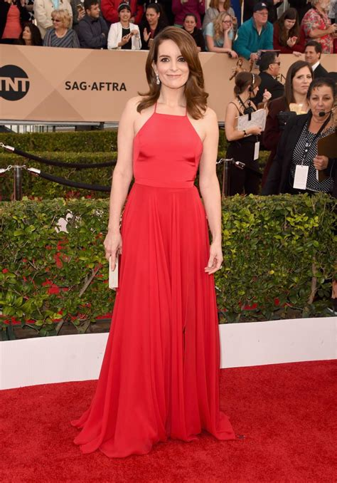 2016 screen actors guild awards red carpet a high fashion tina fey photos sag awards 2016 best and worst red