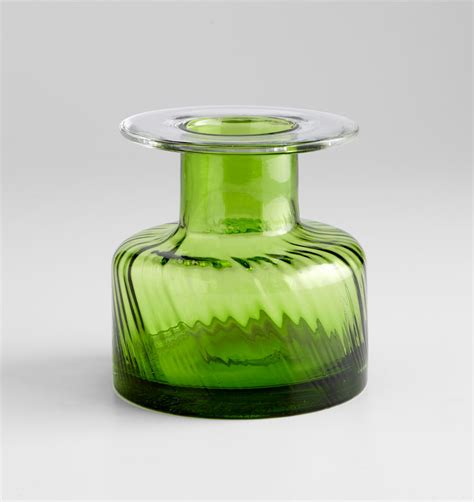 Decorative Green Vases Small Apothecary Green Glass Vase By Cyan Design