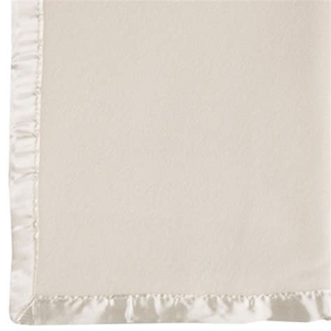 Decke Yakwolle by Fleece Baby Blanket Beige With Satin Trim American Baby