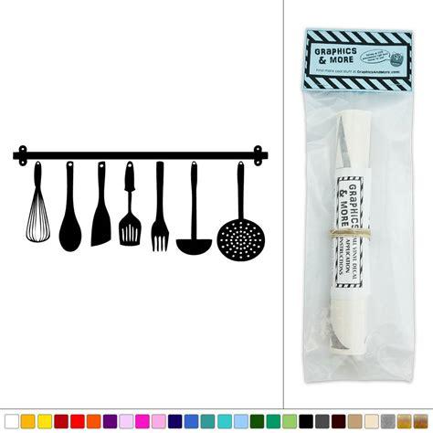 hanging kitchen utensils vinyl sticker decal wall