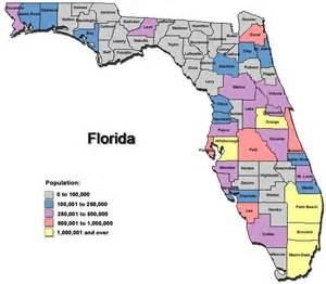 crime incidence by county florida map florida