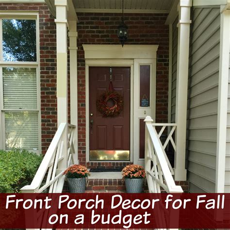 fall decorating ideas on a budget front porch decor for fall on a budget