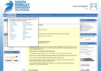 themes for moodle 1 9 aardvark south hunsley school pro 1 2 1 moodle theme jon