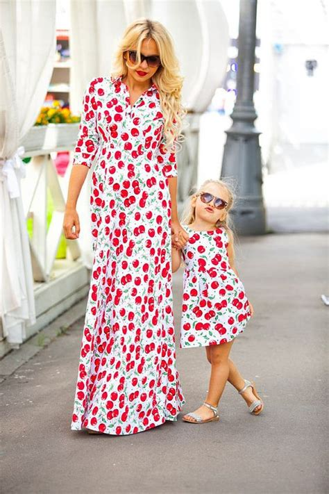 cute matching mother  daughter outfits  summer
