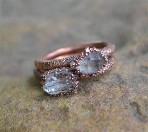 herkimer ring copper electroformed ring
