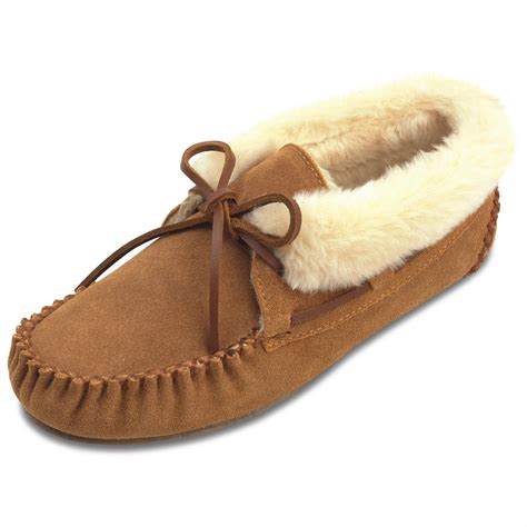moccasins house shoes women s minnetonka 174 moccasin chrissy bootie moccasins 420991 slippers at sportsman